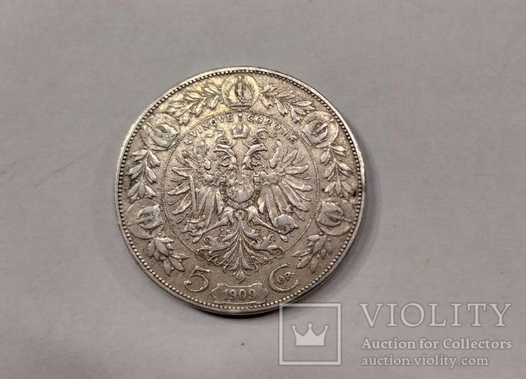 5 крон 1909р Австрія, фото №2
