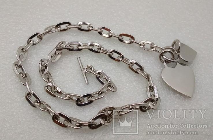 Цепь цепочка серебро 925  45 см, фото №2