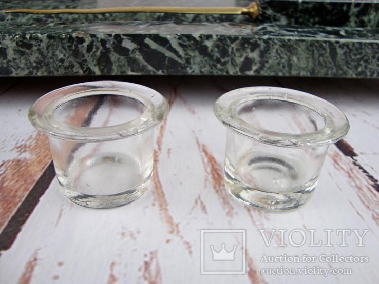 Антикварный набор для письменного стола, мрамор, бронза, фото №13