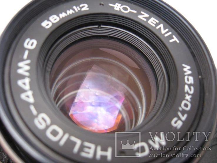 Фотопаарат Зенит с обьективом Гелиос-44М-6, фото №5