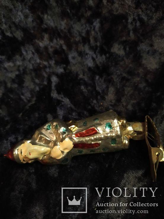 Ёлочная игрушка звездочет с красным колпаком, фото №6