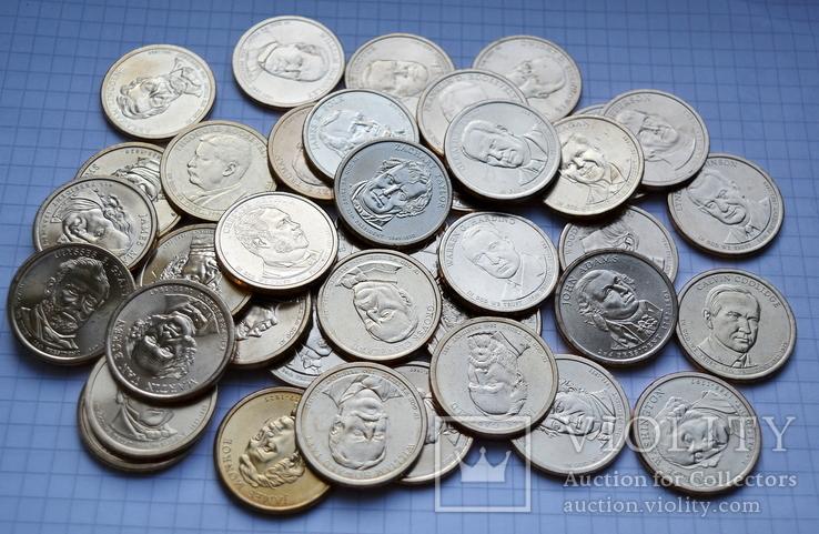 Полный набор долларов США серия ''Президенты'' - 39 шт, фото №3