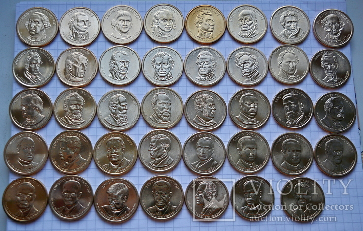 Полный набор долларов США серия ''Президенты'' - 39 шт, фото №4