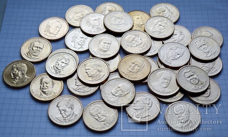 Полный набор долларов США серия ''Президенты'' - 39 шт, фото №5