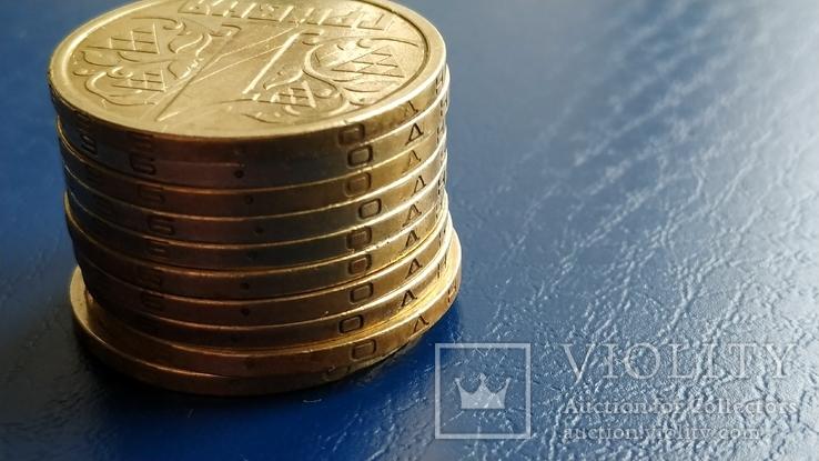1 гривна 1996. 10 шт. НБУ., фото №4