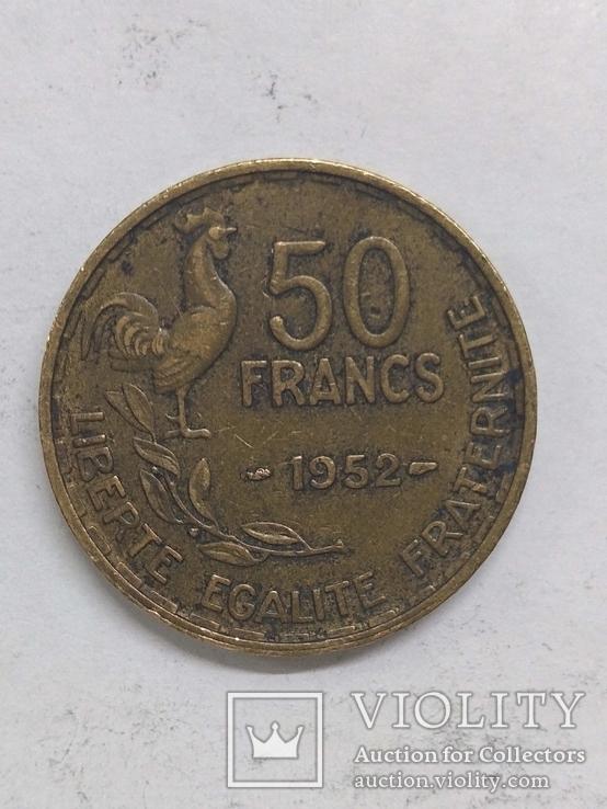 Франция 50 франк 1952-1, фото №2