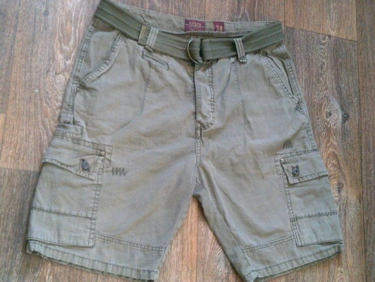 California - фирменные защитные шорты с ремнем, фото №3