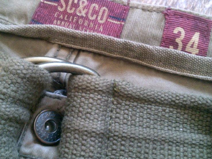 California - фирменные защитные шорты с ремнем, фото №4