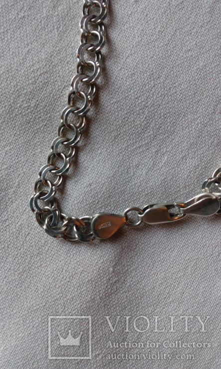 Серебрянная цепочка 18.5 грамм., фото №5