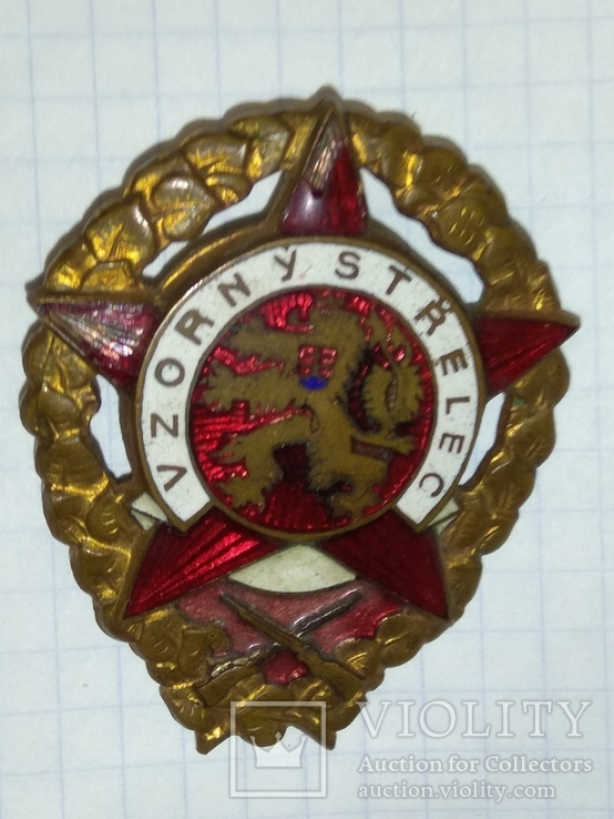 "Знак "" Меткий стрелок ""  Чехословакии., фото №2"
