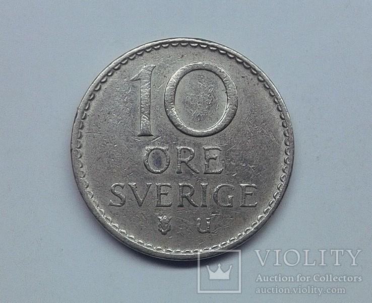 Швеция 10 эре 1969, фото №3