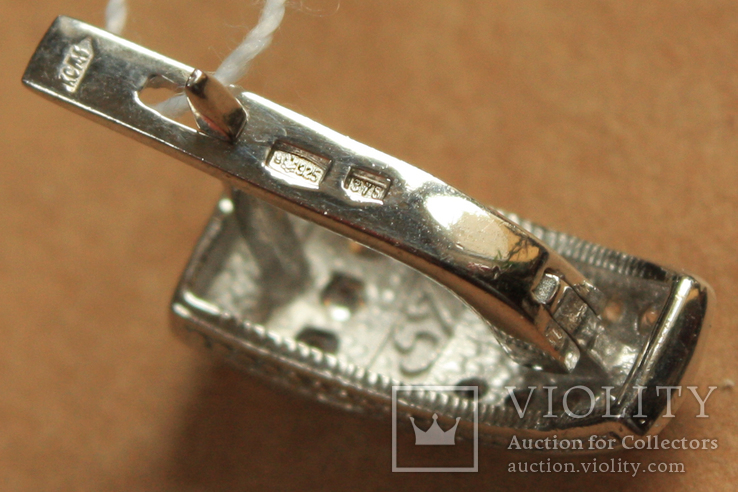 Серьги серебро, золото, фото №5