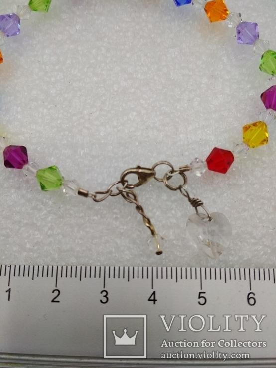 Браслет кристалы Swarovski серебро 925, фото №3