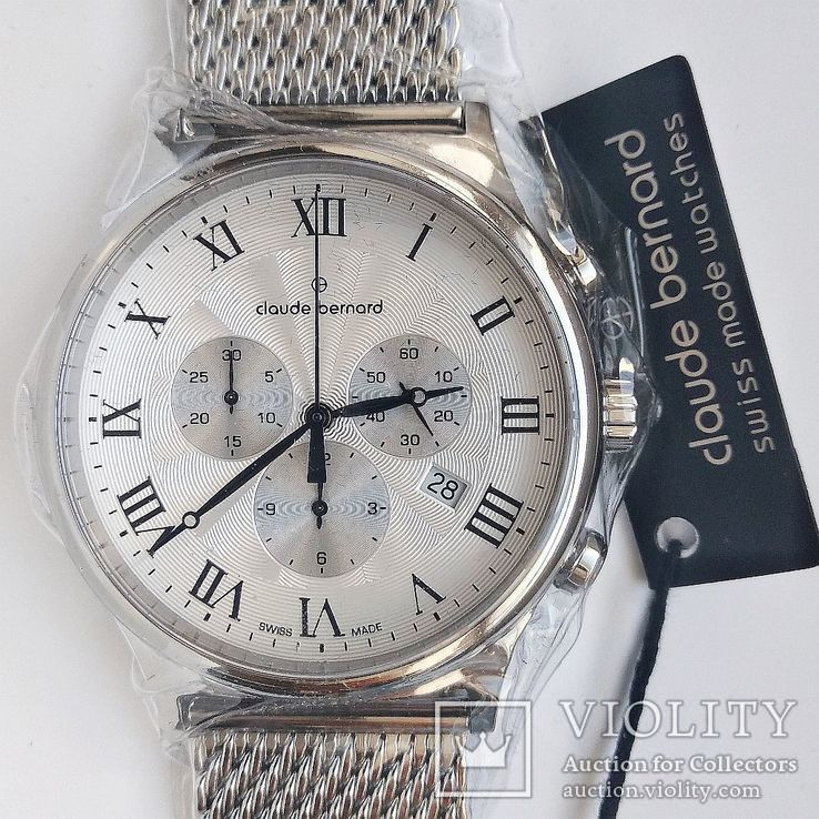 Швейцарский хронограф CLAUDE BERNARD by Edox Classic 10217.3M.AR1, новые