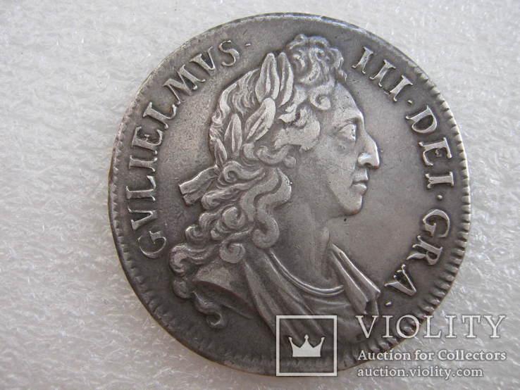 Англия.1 крона 1696г.  Вильям III (1694-1702)