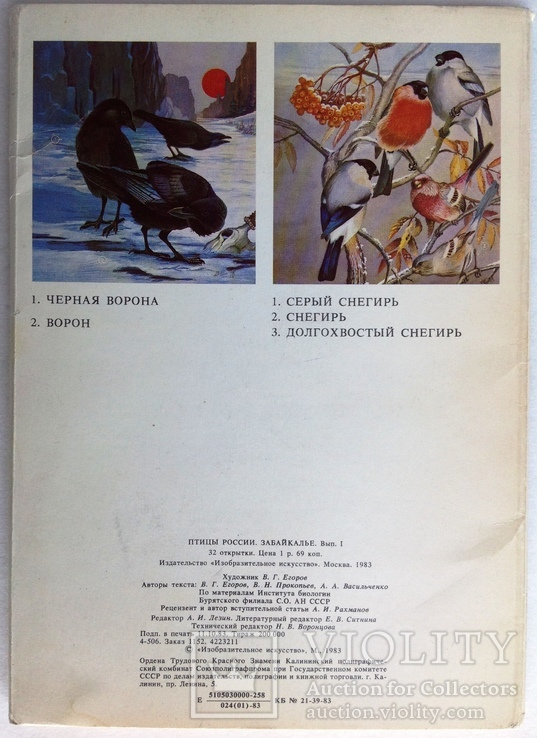 1983  Птицы России. Забайкалье. Выпуск 1. 32 открытки., фото №12