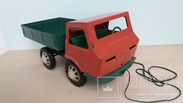 Игрушка самосвал грузовик металлический СССР., фото №3