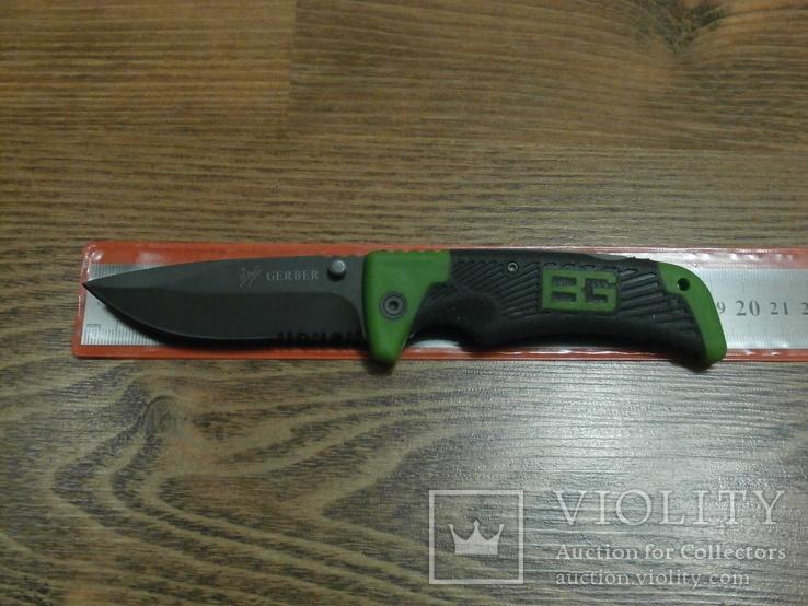 Нож складной Gerber Bear Grylls Scout 114 U4-4 /Green с сирейтером, фото №2