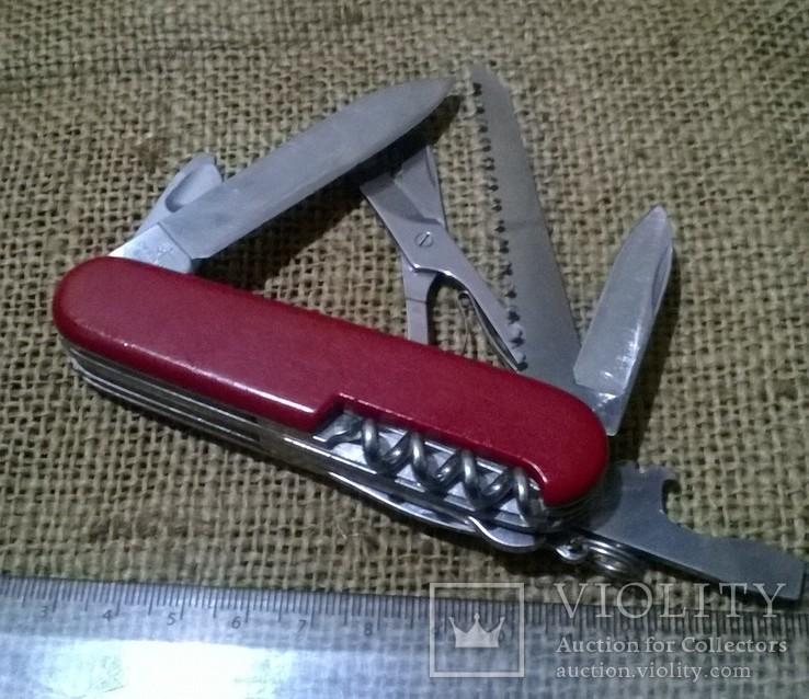 Huntsman  red.VICTORINOX.Старая модель.Швейцарский.Армейский.Нож.Ніж.Червоний., фото №3