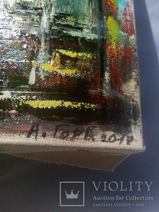 "Картина ""Замок"" масло, холст 40*60 см, фото №7"