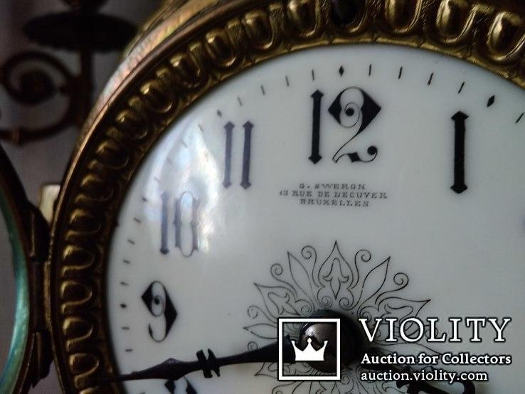 Большие, старые каминные часы. (Франция), фото №5