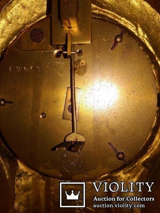 Большие, старые каминные часы. (Франция), фото №8