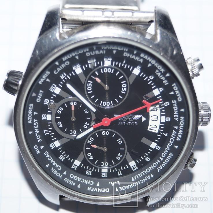 Часы для лётчиков AVIATOR Traveller Collection., фото №2