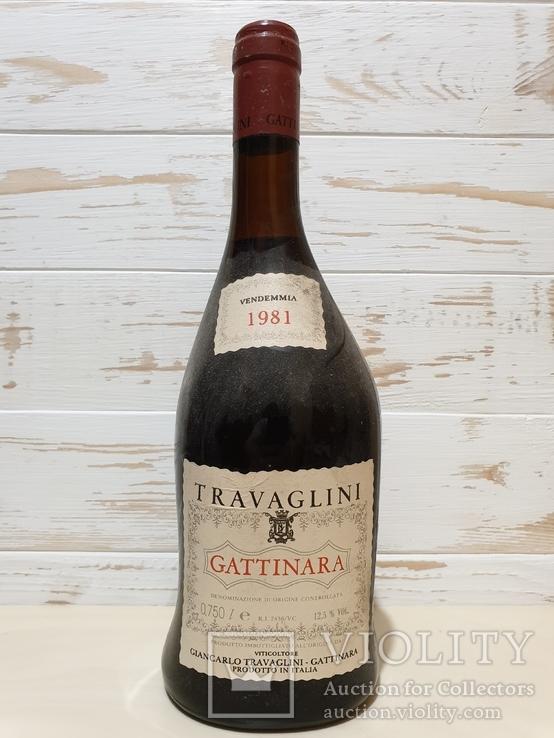 1981 Travaglini Gattinara 0.750L  12.5%vol., фото №2