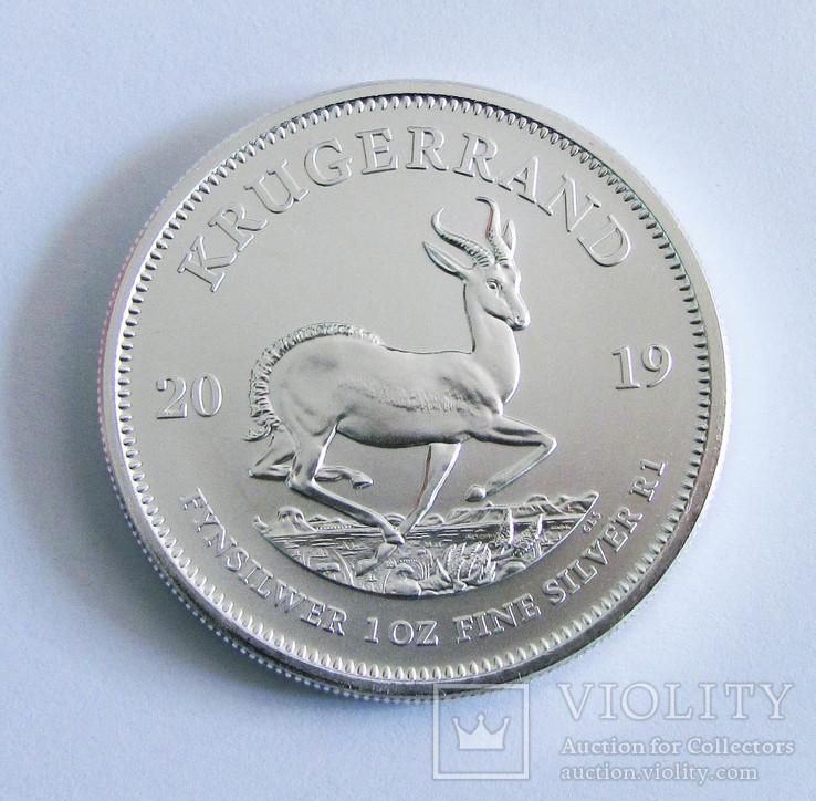 2019 ЮАР Крюгерранд, серебро, 1 унция, фото №2