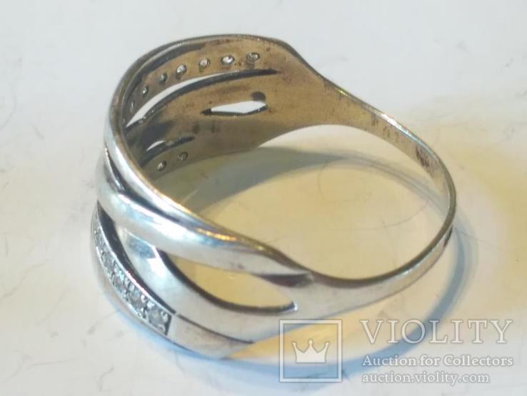 Гарнитур 6 кольцо и серьги серебро, фото №4