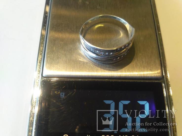Гарнитур 6 кольцо и серьги серебро, фото №11