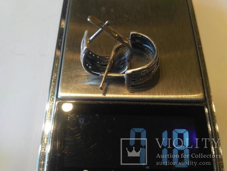 Гарнитур 6 кольцо и серьги серебро, фото №12