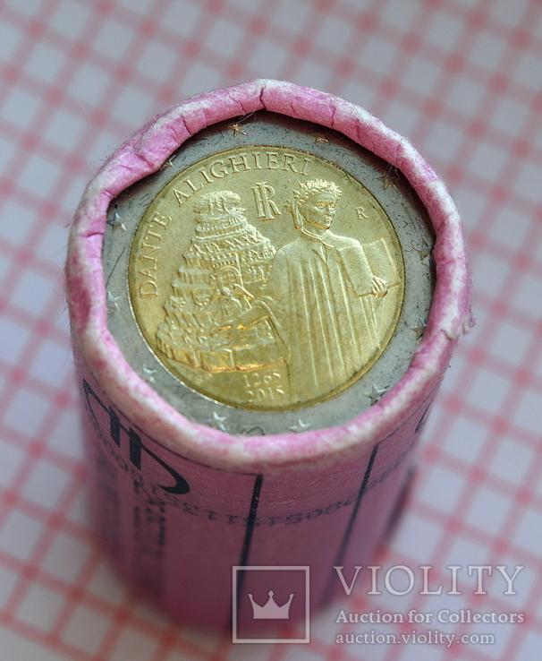Италия 2 евро, 2015, 750 лет со дня рождения Данте Алигьери, фото №4
