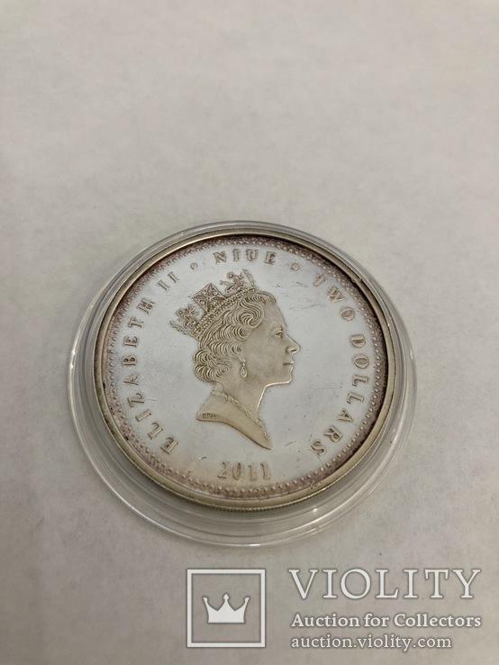 2 доллара Серебро 1 oz., фото №3