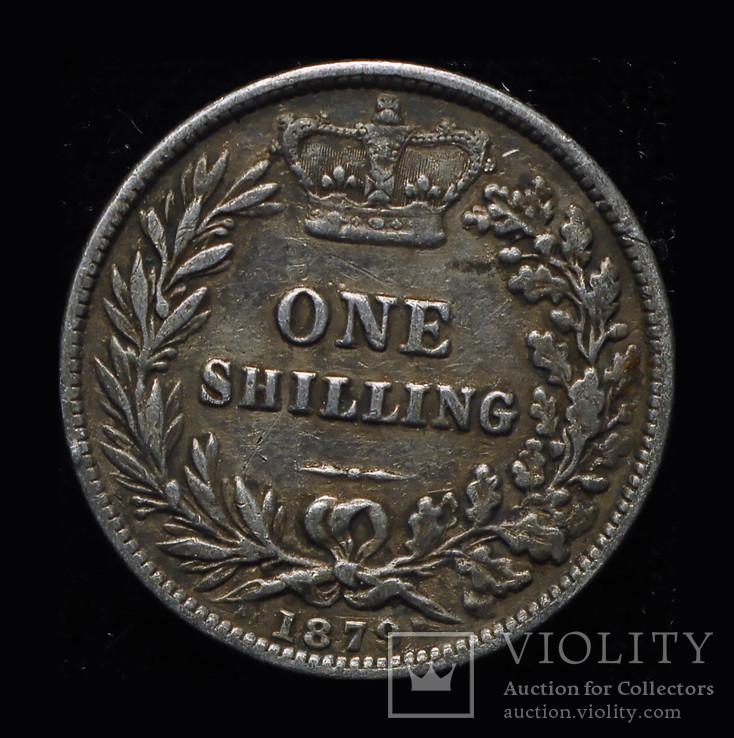 Великобритания шиллинг 1879 серебро