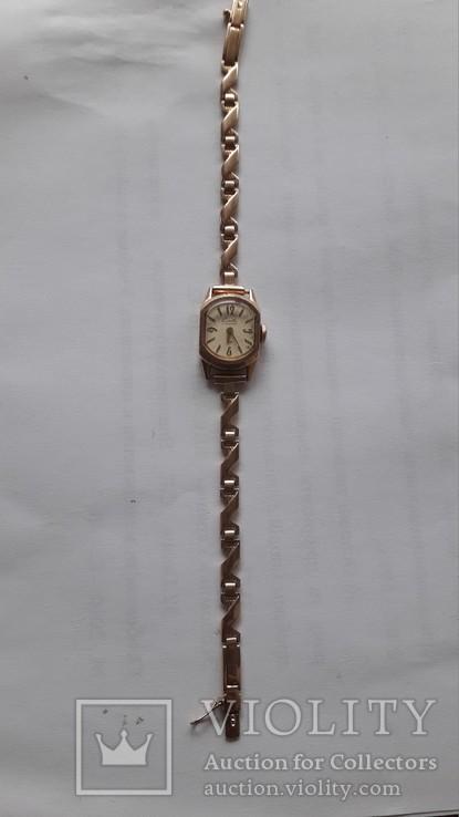 Часы золотые Слава 17 камней, фото №6