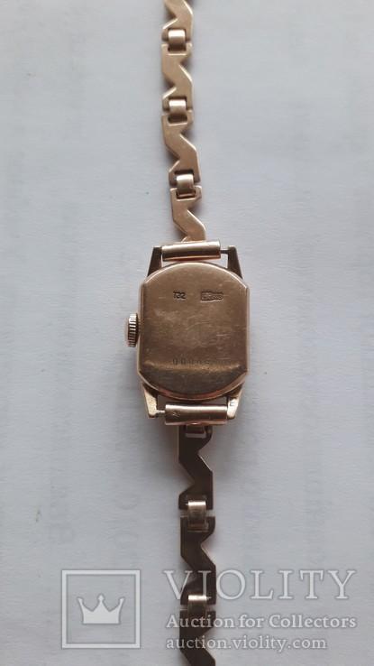 Часы золотые Слава 17 камней, фото №8