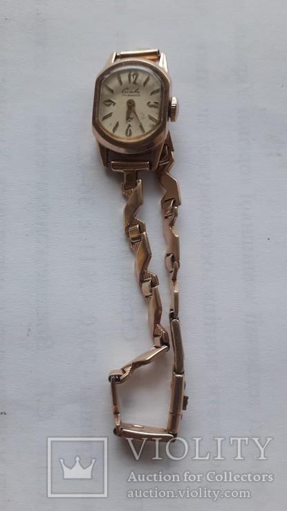 Часы золотые Слава 17 камней, фото №11