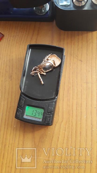 Часы золотые Слава 17 камней, фото №12
