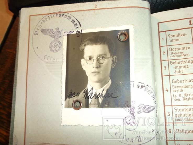 Военный билет, Wehrpaß. III.Reich. 1939 г., фото №5
