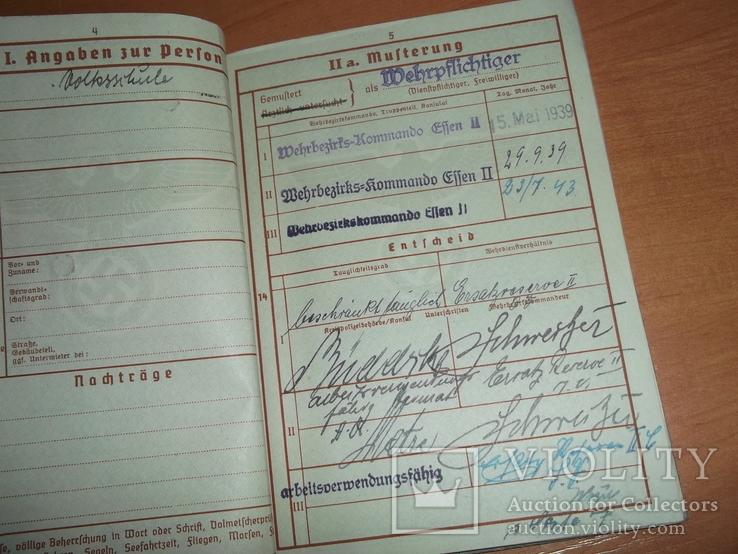 Военный билет, Wehrpaß. III.Reich. 1939 г., фото №6