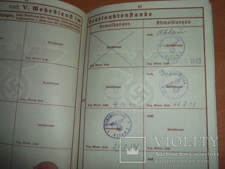 Военный билет, Wehrpaß. III.Reich. 1939 г., фото №7