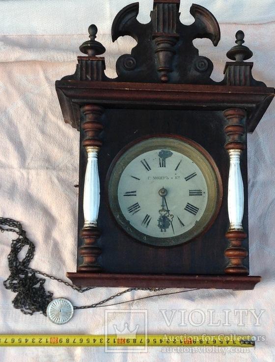 Настенные часы Генри Мозер , колоны фарфоровые