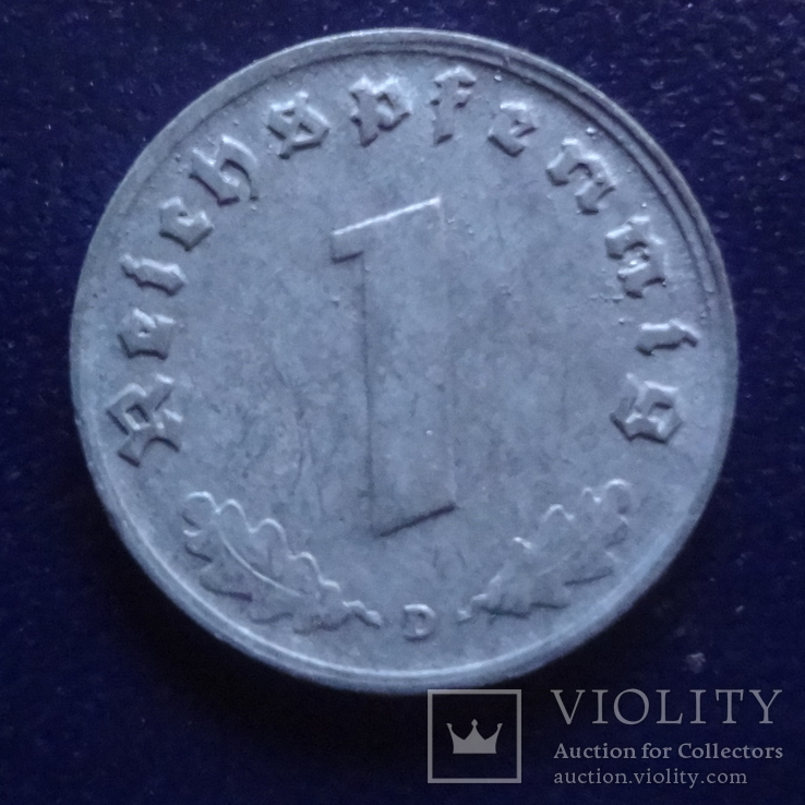 1  пфенниг  1941  D  Германия   (Г.1.14)~, фото №3