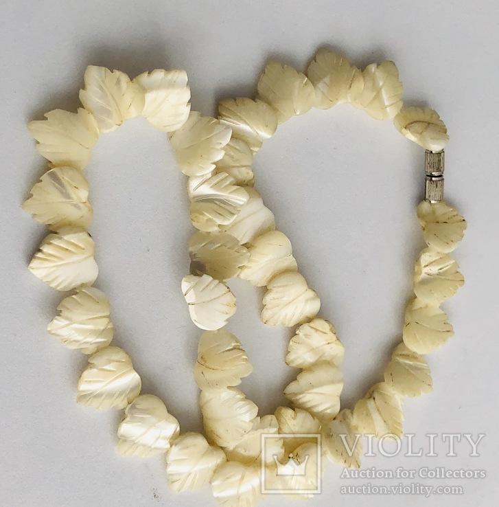 Перламутровое ожерелье (вес 23,3 гр), фото №6
