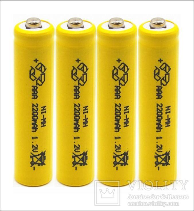 Аккумуляторы ААА 2200mAh 4 шт + футляр, фото №3