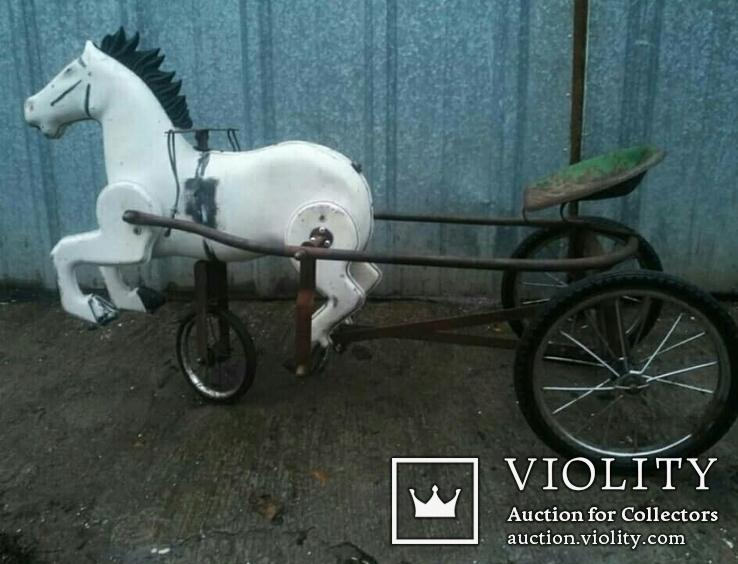 Конь Педальный.Лошалка Каталка лот из 2шт., фото №6