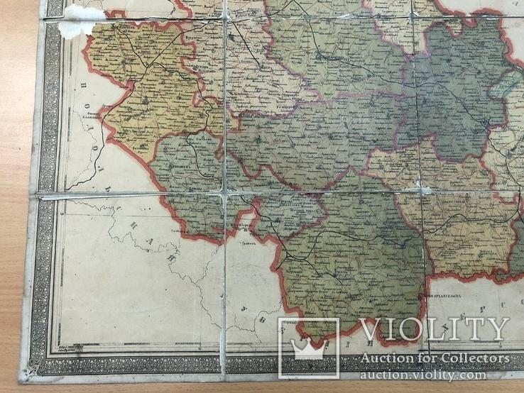 Дореволюционная карта Киевский губернии 1909 года, фото №7