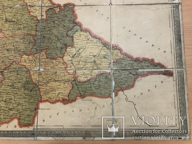 Дореволюционная карта Киевский губернии 1909 года, фото №8