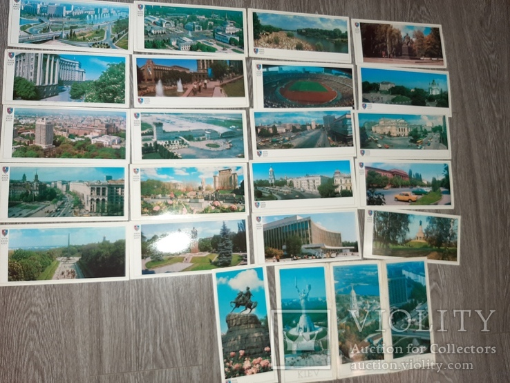 Набор открыток Киев СССР 21 шт 1982г., фото №2